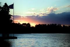 51 (_T_Willi_95) Tags: sunset summer usa lake nature beautiful night canon outdoors boat americanflag edits photograghy lakeorion canont3i rebelt3i