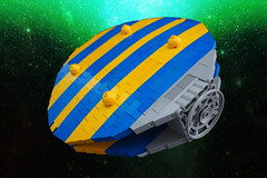 Y Soser Hedfan (David Roberts 01341) Tags: lego space alien racing ufo scifi hoover spaceship flyingsaucer spacecraft spaceracer minfigure brickbending