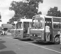 1970s Private hire. (Renown) Tags: bus coach dualpurpose aec reliance 691 6u2r alexander ytype pmt potteries nbc nationalbus ford r226 duple dominant draytonmanorpark fazeley staffordshire
