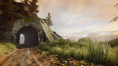 VOEC - 049 (Screenshotgraphy) Tags: sunset sky mountain lake game nature colors architecture clouds contrast montagne landscape pc screenshot lumire couleurs country lac ethan steam gaming ciel beaut carter concept nuages paysage vanishing campagne beautifull jeu naturelle urbain
