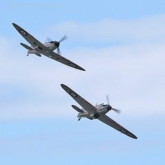 9806 BBMF (photozone72) Tags: canon aviation hurricane spitfire raf cleethorpes airshows armedforcesday bbmf p7350 lf363 canon100400mmf4556l rafbbmf 7dmk2 canon7dmk2
