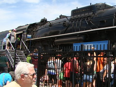 On the scene @ the Franklin Park Rail Day 6/11/16. (Chicago Rail Head) Tags: localrailroad firsttime steamlocomotive locomotivesondisplay passengercars emergencyvehicles 61116 mow equiment nickelplateroad 765 284