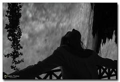 20160513_130931 (gabrielpsarras) Tags: bw woman plant water girl silhouette blackwhite waterfall greece macedonia banister edessa  northerngreece