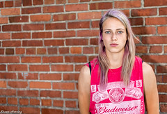 Portrait (shawn_herring1) Tags: model girl portrait woman pink brick wall budweiser nikon d7100 sb700 seattle shawn herring