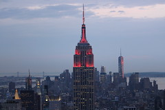 The Empire State Building front and center (Hazboy) Tags: new york city nyc usa ny building apple rock america square us big state manhattan may center midtown empire times rockefeller 2016 hazboy hazboy1