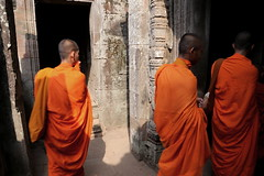 Inside Angor Tom (pooly7) Tags: orange tom temple cambodia buddhism ankor