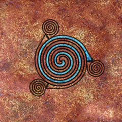 Spiral (chrisinplymouth) Tags: spirality art pattern design spiral image whorl coil abstract cw69x artwork square digitalart symmetry cw69sym curl celticspiral celtic symbol rust geometric geometry cw69spiral emd