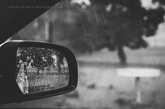 (Chains of Pace) Tags: blackandwhite oklahoma rain weather rural mirror depthoffield