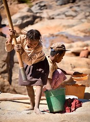 Family Business, Madagascar (Rod Waddington) Tags: africa family people gold child african business worker panning madagascar seekers miners afrique malagasy subsistence