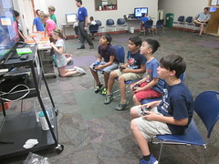 Gamers in Time @ Haggard Library 6/17/16 (plano.library) Tags: library libraries tx haggard familyfun plano allages ppls libraryprogram connectingfamilies planopubliclibrarysystem minecraft gamersintime