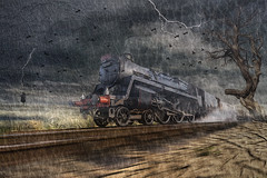 Train Ride (brian_stoddart) Tags: sky texture speed train transport steam