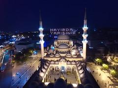 Yeni Cami by night from the air (CyberMacs) Tags: turkey photo minaret air religion trkiye istanbul mosque ramadan fatih ramazan camii drone eminn phantom3 areaial mahy