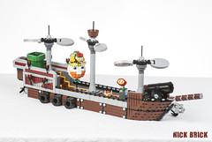 Gamerfleet - Bowser's Airship (Nick Brick) Tags: chicago bowser lego mario airship battleship 2016 brickworld gamerlug gamerfleet