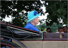 Beautiful In Blue (Mabacam) Tags: blue carriage royal windsor procession royalty windsorgreatpark 2016 queenelizabethii hermajesty hmqueenelizabethii