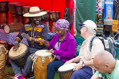 Drumming Workshop (cathbooton) Tags: africa music june festival liverpool drums culture teacher learning drumming pupil seftonpark skill merseyside oye 2016