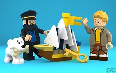 LEGO Tintin - Secret of the Unicorn (Concorer) Tags: brick toy tin lego fig snowy character group reporter mini captain legos figure tintin decal tt minifig adventures calculus professor custom knob dupont unicorn et haddock thompson journalist tournesol dimensions milou minifigure herge capitaine dupond herg 2016 tompson concore tryphon hergs herges