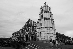 Daraga Church (aignes07) Tags: daragachurch blackwhite antique churches daraga albay bicolandia philippines aignes07 franciscosengia nikon hoyacpl 2470mm