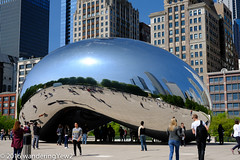 """Chicago 2016: Millenium Park -- """"Cloud Gate"""" (wanderingYew2) Tags: sculpture chicago illinois milleniumpark publicart cloudgate"""