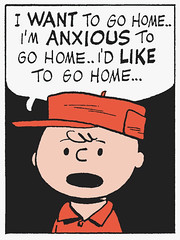 I want to go home (Tom Simpson) Tags: home illustration vintage comics peanuts 1950s charliebrown charlesschulz 1953 anxious gohome charlesmschulz iwanttogohome newspapercomics