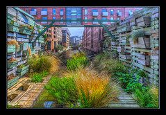 The Illusion Box (Kevin From Manchester) Tags: flowers england building architecture garden manchester canal northernquarter northwest outdoor hdr canon1855mm kevinwalker canon1100d