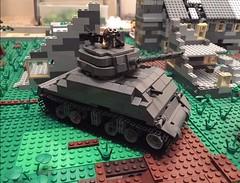 M4 Sherman (Brick Lieutenant) Tags: america tank ww2 sherman m4sherman brickarms legotank legoww2