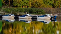 Boats for Hire (srhphoto) Tags: reflections boats lakedistrict panasonic ullswater 2016 polariser m43 10stop microfourthirds formatthitechfilters panasonicdmcgx8