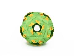 No name (masha_losk) Tags: paper origami squares symmetry foliage folded paperfolding modularorigami kusudama unitorigami