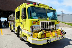 Chicago Fire Department Engine 12 (nick123n) Tags: chicago fire department rig truck apparatus arff ord kord ohare airport lime green
