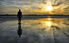 Another Place (Jason Connolly) Tags: liverpool sunrise southport merseyside anthonygormley anotherplace crosbybeach nwengland