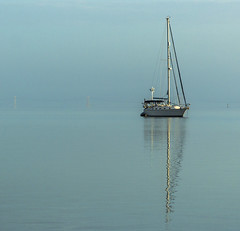 Calm Waters (wizsnap) Tags: sailboat indianriver morning calm reflection jensenbeach martincounty peaceful