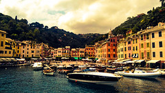 Beauty_of_Portofino (wanderlust_couple) Tags: city travel blue trees sea sky italy tree green nature water yellow skyline clouds wow landscape boats boat seaside cool flickr traveller portofino