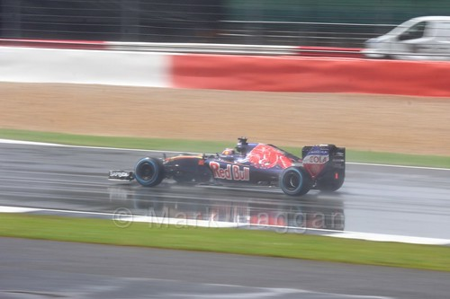 Daniil Kvyat in his Toro Rosso in the 2016 British Grand Prix at Silverstone