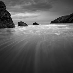 Woosh (Billy Currie) Tags: beach rock flow grey mono coast scotland sand woosh streak flood tide north wave ng sutherland tidal durness minimalist