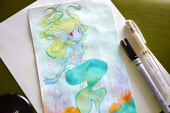 Mermaid for KiraKira (vanie~) Tags: drawing mermaid copic