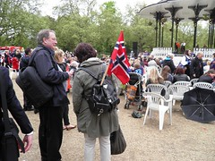 17 May Celebrations in Southwark Park (Normann) Tags: park london flag bandstand