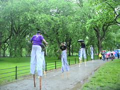 AIDS Walk 2013 - Razorfish Team (stribs) Tags: ny newyork team centralpark stilts razorfish aidswalk2013