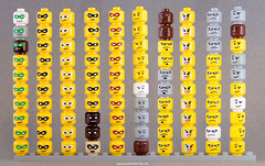 "Heads (Kristi ""McWii"") Tags: lego head parts vinyl custom printed engraved"