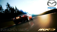 Advert (DocArmor98/GTracer98) Tags: sunset 30 advertising photo mazda miata edit damp mx5 nordschleife nurburgring gt5 photomode granturismo5