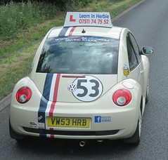Herbie Driving School (Bristol Viewfinder) Tags: vw beetle 53 herbie
