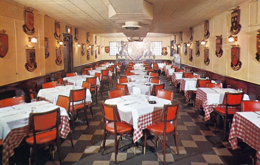 fleur de lis french restaurant new york ny edge and corner wear tags - Linoleum Restaurant Interior