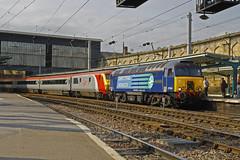 Pretendolino (Steven Atkinson) Tags: rail pride virgin crewe depot carlisle kilmarnock services direct intercity wembley mk3 drs wabtec 57304 82126 pretendolino 5z41