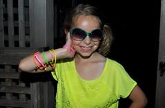 clio (greenelent) Tags: people green girl smile sunglasses fashion kids children photoaday 365 80sfashion