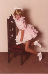 pink sissy portrait (shellyanatine) Tags: pink dress crossdressing sissy petticoat frilly