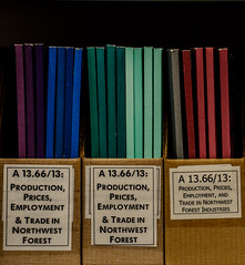 stimulation (dotintime) Tags: colors reading spectrum library research upright bound fascinating pamphlets aligned stimulation meganlane dotintime