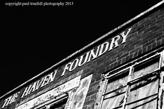 Haven foundry (photoautomotive) Tags: sky blackandwhite bw haven window foundry frames bricks canon10d newhaven eastsussex