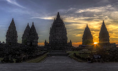 Prambanan sunset (Fil.ippo) Tags: sunset indonesia temple java ancient nikon tramonto sigma historical yogyakarta hindu 1020 hdr filippo sito prambanan tempio candi archeologico giava d7000