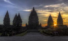 Prambanan sunset (Fil.ippo) Tags: sunset indonesia temple java ancient nikon tramonto sigma historical yogyakarta hindu 1020 hdr filippo sito prambanan tempio candi archeologico giava d7000