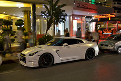 Nissan GTR 2012 (Tiziano Casareto) Tags: summer white france cars night photography japanese nikon nissan shot cannes 2012 v6 gtr carspotting tiziano 2013 18105mm exclusivecars d3100