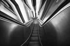 Stainless Stairway to Wonder (Alan Amati) Tags: chicago modern stairs illinois escalator il stainless chicagopubliclibrary amati haroldwashingtoncenter alanamati