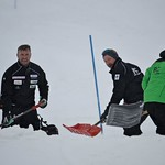 Johnny Crichton, Nick Cooper, JP Daigneault - BC Team coaches on the job at Sun Peaks PHOTO CREDIT: Gordie Bowles